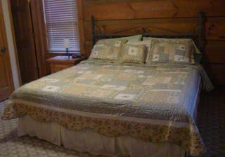 King bed in master of blowing rock cabin
