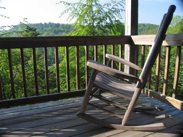 rocking chair at blowing rock cabin